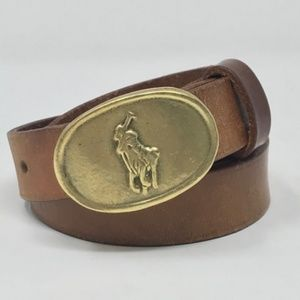 vintage Ralph Lauren Polo buckle and belt size 28